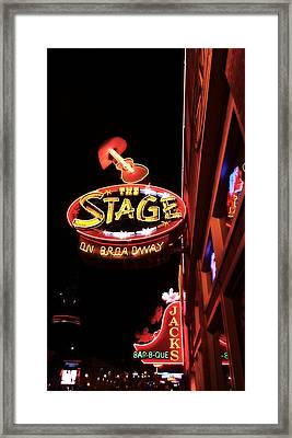 The Stage On Broadway In Nashville Framed Print by Dan Sproul