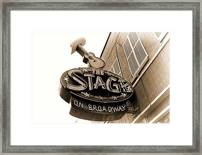 The Stage On Broadway Nashville Tennessee Framed Print by Dan Sproul