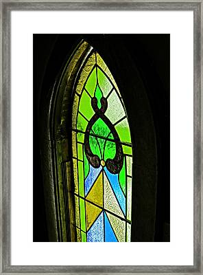 The Stained Glass Framed Print by Image Takers Photography LLC -  Laura Morgan