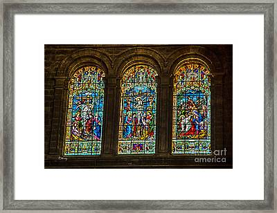 The Stained Glass Windows Of Malaga Cathedral Framed Print by Rene Triay Photography