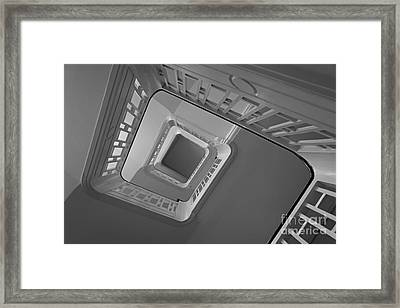 Framed Print featuring the photograph The Staircase by Inge Riis McDonald