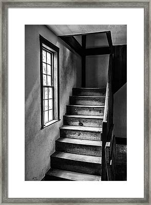 The Stairs Bw Framed Print by Karol Livote