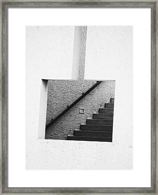 The Stairs In The Square Framed Print