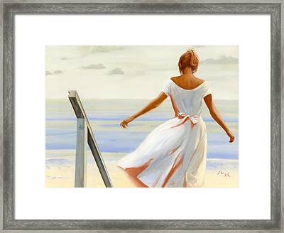 The Stairs Framed Print by Mark Van Crombrugge