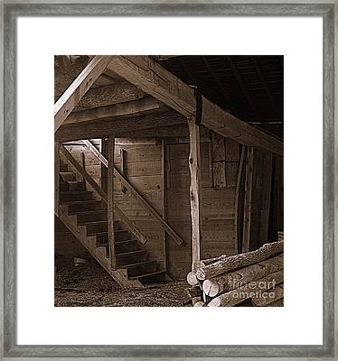 The Stairs Still Stand Framed Print