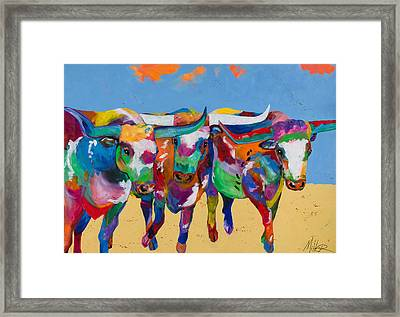The Stampede Framed Print by Tracy Miller