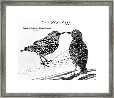 The Standoff  Congress Of The United States Of America   Framed Print by Gerlinde Keating - Galleria GK Keating Associates Inc