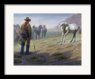 Taming The Wilderness Digital Art Framed Prints