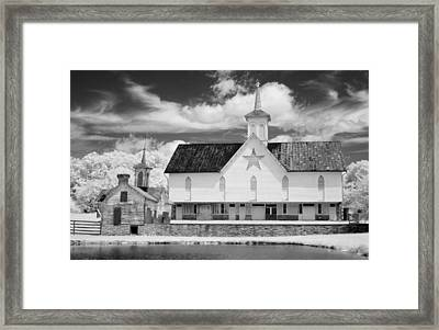 The Star Barn - Infrared Framed Print