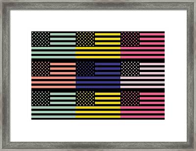 The Star Flag Framed Print by Tommytechno Sweden