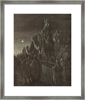 The Star In The East Framed Print by Antique Engravings