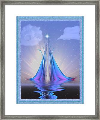 The Star Of Lothlorien Framed Print by Mario Carini