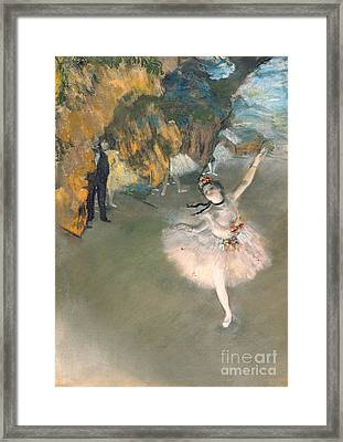 The Star Or Dancer On The Stage Framed Print by Edgar Degas