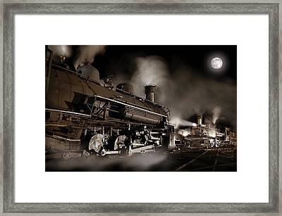 The Staredown Version 2 Framed Print by Ken Smith