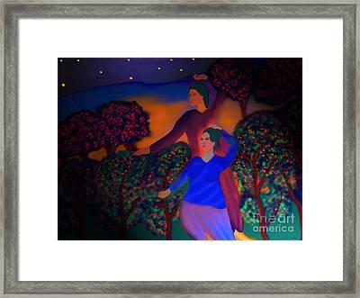 Framed Print featuring the digital art The Starlight Night by Latha Gokuldas Panicker