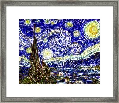 The Starry Night Reimagined Framed Print by Adam Romanowicz