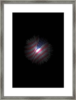 The Stars And Stripes Framed Print by Jeff Swan