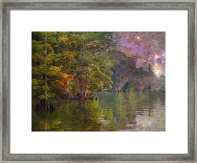The Stars Give Way To The Sun Framed Print