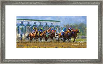 The Starting Gate Framed Print