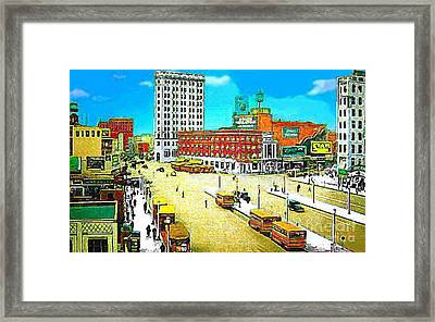 The State Theatre On Journal Sq. In Jersey City N J In 1930. Framed Print