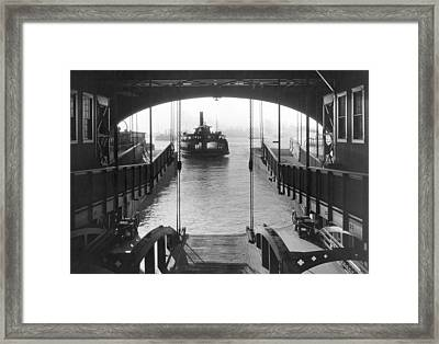 The Staten Island Ferry Framed Print by Underwood Archives