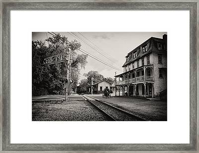 The Station At Reinhold's Inn Framed Print by Bill Cannon