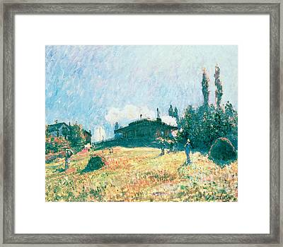 The Station At Sevres Framed Print by Alfred Sisley