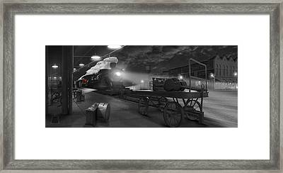 The Station - Panoramic Framed Print