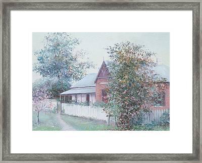 The Stationmaster's Cottage Framed Print