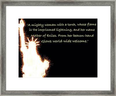 A Mighty Woman The Statue Of Liberty Framed Print