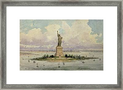 The Statue Of Liberty  Framed Print by Frederic Auguste Bartholdi