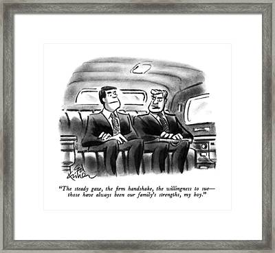 The Steady Gaze Framed Print