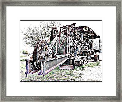 The Steam Shovel Framed Print by Glenn McCarthy Art and Photography