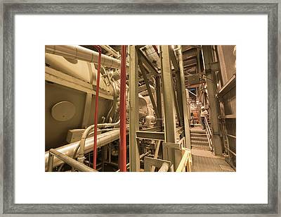 The Steam Turbine At Ivanpah Solar Framed Print by Ashley Cooper