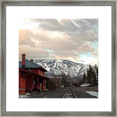The Steamboat Depot Framed Print