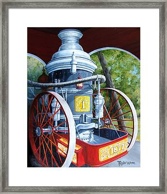 The Steamer Framed Print by Tanja Ware