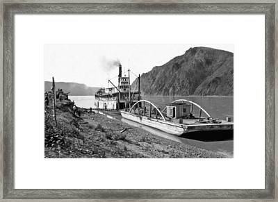 The Steamer yukon In Alaska Framed Print by Underwood Archives