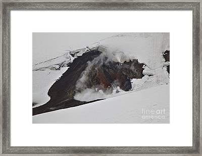 The Steaming Eyjafjallajoekull Framed Print