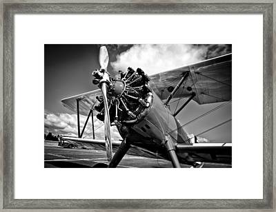 The Stearman Biplane Framed Print