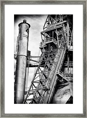 The Steel Mill Framed Print by John Rizzuto