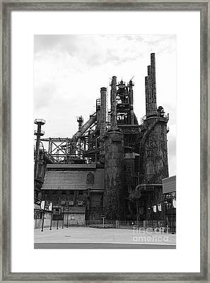 The Steel Stacks Framed Print by Paul Ward
