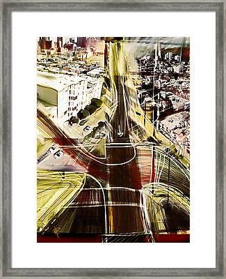 The Steep City Framed Print by Russell Pierce