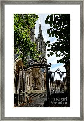 The Steeple And The Gate Framed Print