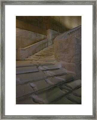 The Steps Out Of Sight Framed Print by Guy Ricketts
