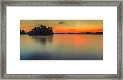 The Still And Quiet Dawn Framed Print