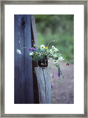 The Still Life Of Wild Flowers Framed Print by Patricia Keller
