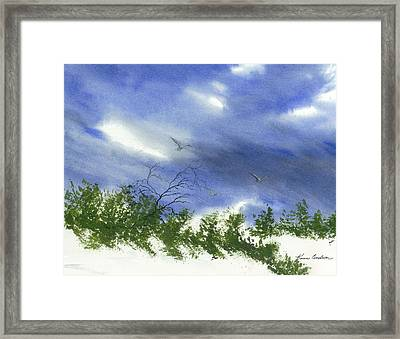 The Still Of Shore Framed Print by Karen  Condron
