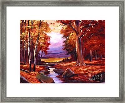 The Stillness Of Autumn Framed Print by David Lloyd Glover