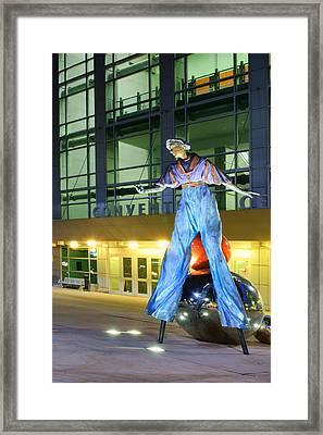 The Stilt-walker Framed Print by Nikolyn McDonald