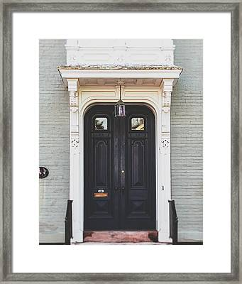 The Stockade Door In Schenectady New York Framed Print